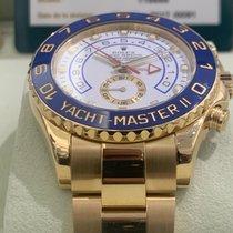 Rolex Yacht-Master II gebraucht 44mm Weiß Gelbgold
