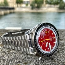 Omega Speedmaster Reduced occasion 39mm Rouge Chronographe Acier
