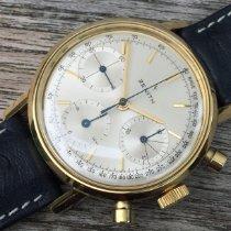 Zenith Gelbgold Handaufzug Zenith Chronograph, vintage, 1966, 18Kt. Gelbgold, verschraubtes Gehäuse, Top gebraucht Deutschland, Iserlohn