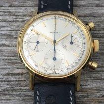 Zenith Zenith Chronograph, vintage, 1966, 18Kt. Gelbgold, verschraubtes Gehäuse, Top Muito bom Ouro amarelo Corda manual