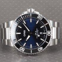 Oris Aquis Date occasion 43.5mm Bleu Date Acier