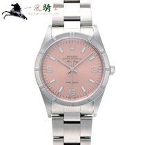 Rolex Air King Precision Staal 34mm Roze