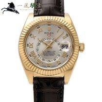 Rolex Sky-Dweller Gelbgold 42mm Silber