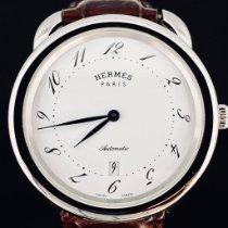 Hermès Arceau Stahl 41mm Weiß Arabisch