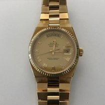 Rolex Day-Date Oysterquartz Yellow gold 36mm Gold Roman numerals