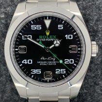 Rolex Air King gebraucht Schwarz Stahl