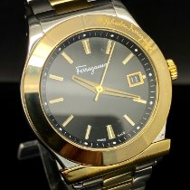 Salvatore Ferragamo Gold/Steel 40mm Quartz pre-owned United States of America, New York, Forest Hills
