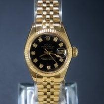 Rolex Lady-Datejust Gelbgold 26mm Schwarz Keine Ziffern