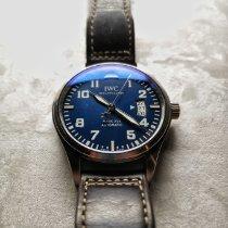 IWC Pilot Mark Steel Blue Arabic numerals