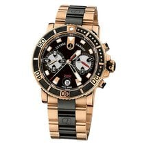 Ulysse Nardin Maxi Marine Diver new 2020 Automatic Chronograph Watch with original box and original papers 8006-102-3A/926
