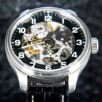 Zeno-Watch Basel Acero 47mm Cuerda manual 8558-9S-a1 usados