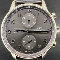 IWC Portuguese Chronograph Or blanc 41mm Gris Arabes