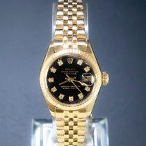 Rolex Lady-Datejust Yellow gold 26mm Black No numerals