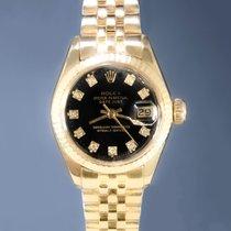 Rolex Lady-Datejust Κίτρινο χρυσό 26mm Μαύρο Xωρίς ψηφία