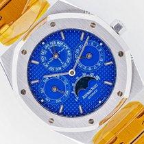 Audemars Piguet Royal Oak Perpetual Calendar Stahl 39mm Blau Keine Ziffern