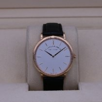 A. Lange & Söhne Rose gold Manual winding White No numerals 40mm pre-owned Saxonia