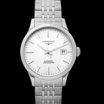 Longines Record Steel 38.50mm Silver United States of America, California, Burlingame