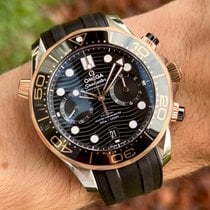 Omega Seamaster Diver 300 M Gold/Steel 44mm Black No numerals United States of America, Wisconsin, Jefferson