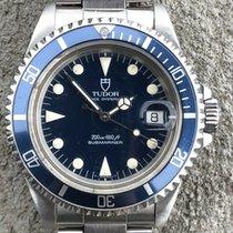 Tudor Submariner Stahl 40mm Blau Keine Ziffern