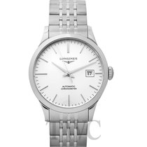 Longines Record Steel 38.50mm Silver