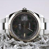 Rolex Datejust II Staal 41mm Grijs Romeins Nederland, Goor