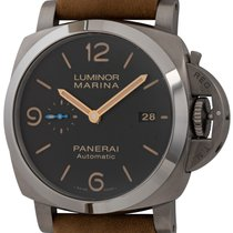 Panerai Luminor Marina 1950 3 Days Automatic pre-owned 44mm Brown Date Buckle