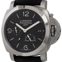 沛納海 Luminor 1950 3 Days GMT Power Reserve Automatic 鋼 黑色 阿拉伯數字