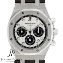 Audemars Piguet Royal Oak Chronograph tweedehands 39mm Wit Chronograaf Datum Vouw