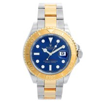 Rolex Yellow gold Automatic Blue 40mm pre-owned Yacht-Master 40