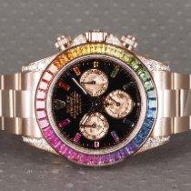 Rolex Daytona Aur roz 40mm Negru Fara cifre