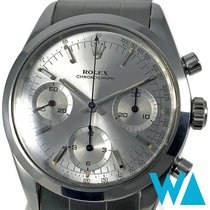 Rolex Chronograph Zeljezo 36mm Srebro Bez brojeva