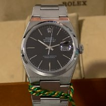 Rolex Datejust Oysterquartz Steel 36mm Black No numerals