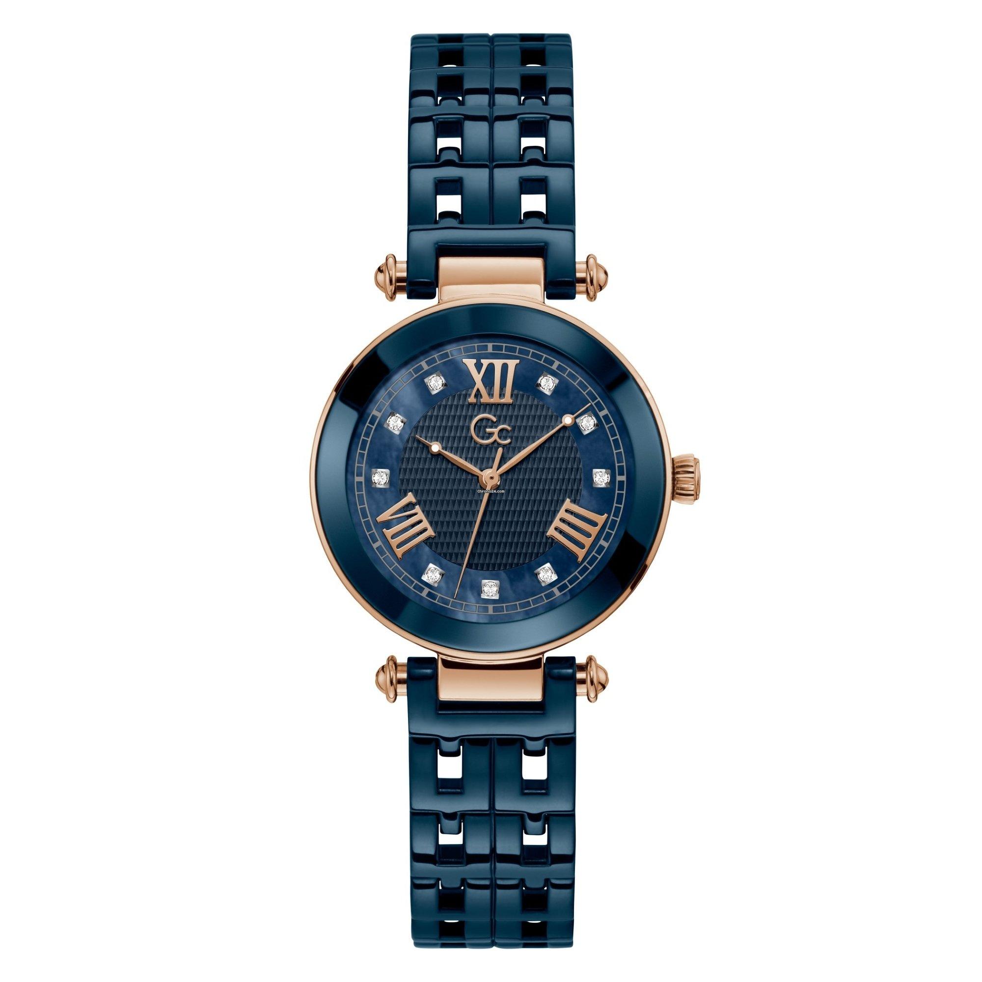 gc Y66005L7MF Women's Primechic Blue Ceramic Wristwatch