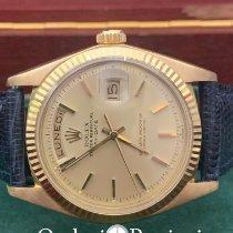 Rolex Day-Date 36 Oro amarillo 36mm Champán Sin cifras