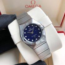 歐米茄 Constellation Quartz 鋼 25mm 藍色