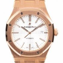 Audemars Piguet Royal Oak Selfwinding Oro rosa 41mm Blanco Sin cifras