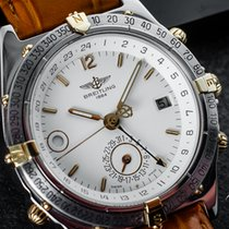 Breitling Duograph Gold/Steel 38mm White Arabic numerals