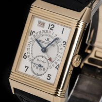Jaeger-LeCoultre Rose gold Manual winding Silver Arabic numerals 26mm pre-owned Reverso Grande Taille