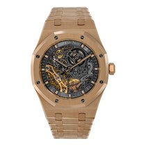 Audemars Piguet Royal Oak Double Balance Wheel Openworked Rose gold 41mm Grey No numerals United States of America, New York, New York