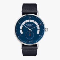 NOMOS Autobahn Steel 41mm Blue Arabic numerals United States of America, Iowa, Des Moines