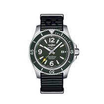 Breitling Steel Automatic Green Arabic numerals 44mm new Superocean 44