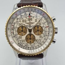 Breitling Navitimer Cosmonaute Gold/Steel 42mm Silver Arabic numerals