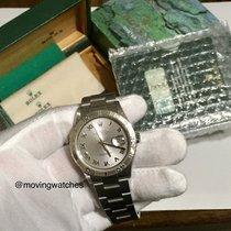 Rolex Datejust Turn-O-Graph Stahl 36mm Silber Römisch