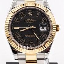 Rolex Datejust II Gold/Stahl 41mm Schwarz Römisch Deutschland, Germering