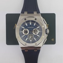 Audemars Piguet Royal Oak Offshore pre-owned 42mm Blue Chronograph Date Rubber