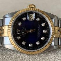 Rolex Lady-Datejust Or/Acier 31mm Bleu Sans chiffres