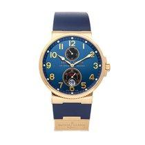 Ulysse Nardin Marine Chronometer 41mm Pозовое золото 41mm Синий Aрабские