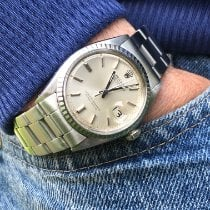 Rolex Datejust pre-owned 36mm Silver Date Steel