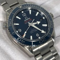 Omega Titanium Automatic Blue No numerals 42mm pre-owned Seamaster Planet Ocean