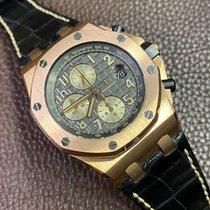 Audemars Piguet Royal Oak Offshore Chronograph occasion 42mm Gris Chronographe Date Cuir de crocodile